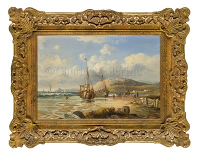 Lot 14-JOHN H. 'JOCK' WILSON (BRITISH, 1774–1855): Beached Fishing Boats