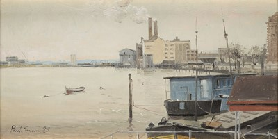 Lot 16-PAUL GUNN (BRITISH, B. 1934): Chelsea Wharf