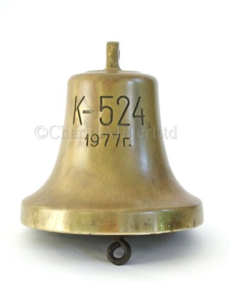 Lot 224 - THE BELL FROM THE 'VICTOR III' CLASS RUSSIAN NUCLEAR POWERED ATTACK SUBMARINE K-524, 1977