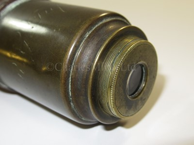 Lot 178 - A 1½IN. SINGLE DRAW ACHROMATIC MARINE TELESCOPE BY NATHANIEL WORTHINGTON, LONDON, CIRCA 1845