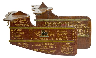 Lot 47 - A PRESENTATION OXFORD COLLEGE ROWING EIGHT RUDDER