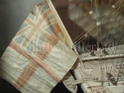 Lot 194 - A FINE FRENCH NAPOLEONIC PRISONER-OF-WAR BONE MODEL FOR H.M.S. CALEDONIA
