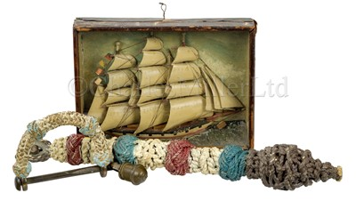 Lot 5 - Ø A GROUP OF 19TH CENTURY SAILORWORK COLLECTABLES