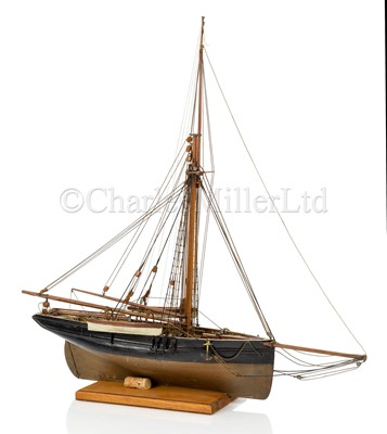 Lot 26 - A 19TH CENTURY MODEL FOR A GAFF-RIGGED PILOT CUTTER OF CIRCA 1820