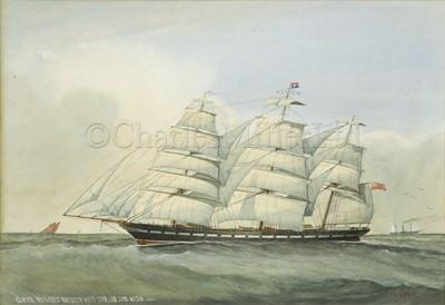 Lot 10 - J. HALL (BRITISH, 19-20TH CENTURY) : Clipper 'Miltiades' - Aberdeen White Starline, John Wilson Master