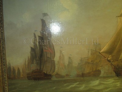 Lot 181 - A set of three pictures commissioned by John Jervis (1735-1823), later Earl St. Vincent, to commemorate his victory at the Battle of Cape St. Vincent, 14th February, 1797