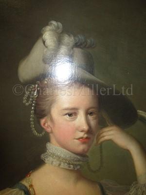 Lot 182 - THOMAS HUDSON (BRITISH, 1701-1779) ; Portrait of Catherine ['Kitty'] Jervis, circa 1755