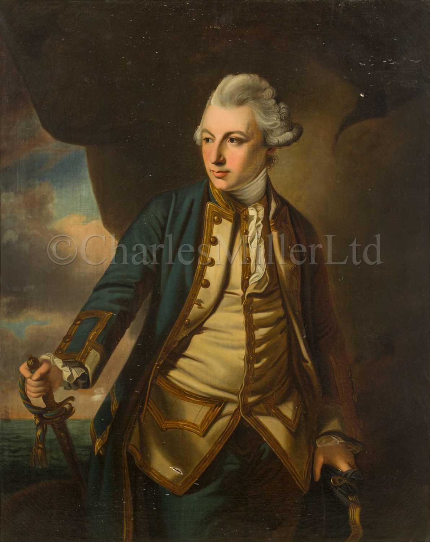Lot 180 - AFTER FRANCIS COATES (19TH CENTURY) : Portrait of John Jervis, Earl of St Vincent circa 1769