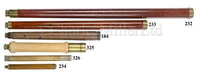 Lot 184 - A 1½IN. SINGLE-DRAW MARINE TELESCOPE OF CIRCA 1810
