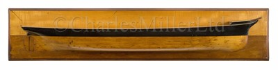 Lot 4 - A BUILDER'S HALF-BLOCK MODEL FOR AN AUXILIARY IRON BARQUE, ATTRIBUTED TO RUSSELL & CO., PORT GLASGOW, CIRCA 1860