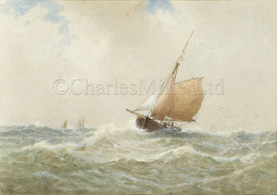 Lot 22 - GEORGE STANFIELD WALTERS (BRITISH, 1838-1924) : A fishing boat returning to port