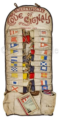 Lot 43 - AN ATTRACTIVE ROLLED SET OF 'WOLFF'S PATENT' YACHTING SIGNAL FLAGS, CIRCA 1902