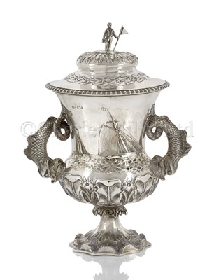 Lot 29 - A VICTORIAN IRISH SILVER YACHTING TROPHY