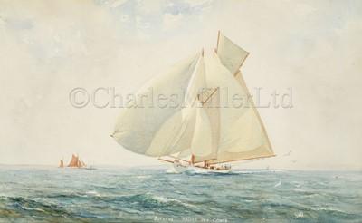 Lot 38 - HERBERT WALTER OAKE (BRITISH, 1888-1938) : 'Susanne' racing off Cowes