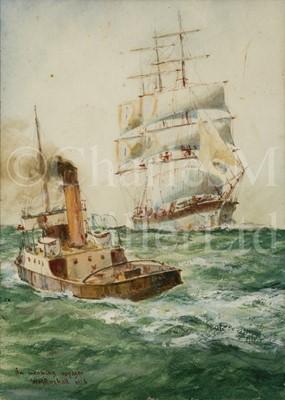 Lot 29 - WILLIAM MINSHALL BIRCHALL, BRITISH (1884-1941) 'An incoming voyager'