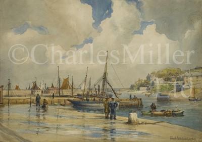 Lot 17 - TOM WHITEHEAD (BRITISH, 1886-1959) Brixham Harbour
