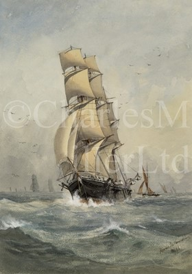 Lot 30 - HORACE X. BROWNE, BRITISH 19TH/20TH CENTURY A full rigged merchantman underway