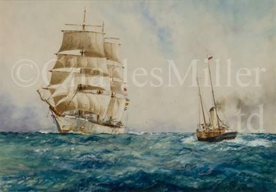 Lot 34 - WILLIAM MINSHALL BIRCHALL (BRITISH, 1884-1941) 'An incoming voyager'
