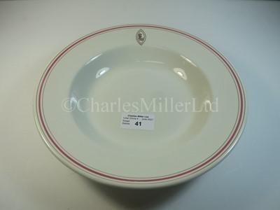 Lot 41 - An Ellerman Line soup bowl
