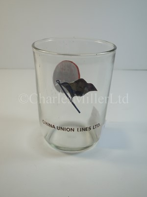 Lot 24 - A China Union Lines Ltd drinking glass -- 2½ x  3½in.  (6.7 x 9cm.)