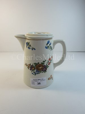 Lot 36 - A Donaldson Line coffee pot -- from handle to spout 5 x 5in. (12.7 x 12.7cm.)