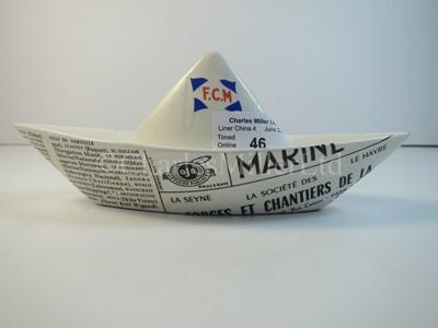 Lot 46 - A Forges et Chantiers de la Méditerranée china paper boat advertising souvenir