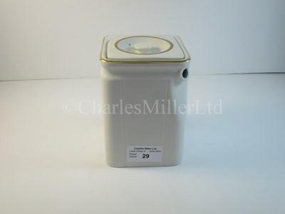 Lot 29 - A Cunard cube hot water pot