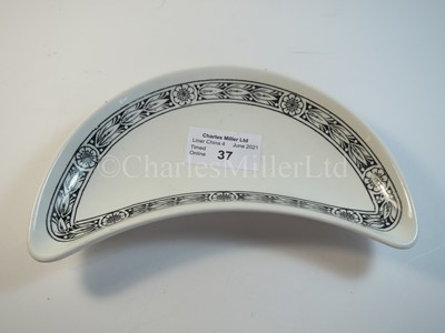 Lot 37 - An Elder Dempster Lines crescent side plate -- 6½in. (16.5cm.) diameter from the widest point