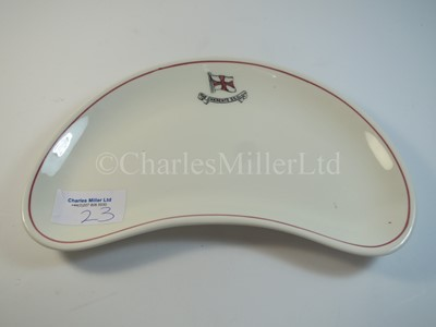 Lot 23 - A Charente Steam Ship Company crescent side plate -- 8in. (20.3cm.) at the widest point