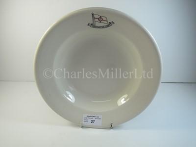 Lot 27 - A Constantine Lines soup bowl