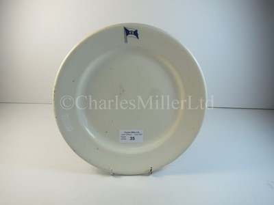 Lot 35 - A Dodero Line, Argentina plate