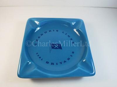 Lot 26 - A Chandris Line blue ash tray