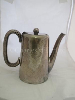 Lot 38 - An Elder Dempster Lines plated coffee pot