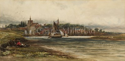 Lot 20 - JAMES ORROCK (BRITISH, 1829-1913) : Hay barge off Maldon