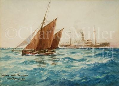 Lot 11 - WILLIAM MINSHALL BIRCHALL (BRITISH, 1884-1941) : Tramp and trawler