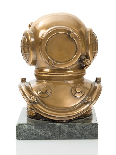 Lot 196-A MODERN BRASS SCULPTURE OF A 6-BOLT SIEBE...