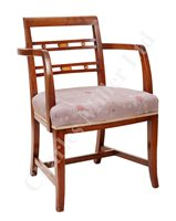 Lot 157 - A FIRST CLASS LOUNGE ARM CHAIR FROM R.M.S....