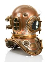 Lot 201-A GOOD 12-BOLT COPPER & BRASS DIVING HELMET BY...