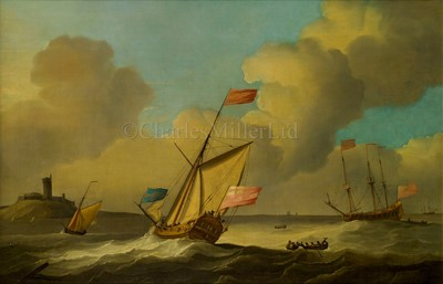 Lot 38-PETER MONAMY (BRITISH, 1681-1749) - Two Admiralty yachts