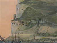 Lot 2-J.M. VAN BRAAM (DUTCH, 19th CENTURY) - Gibraltar, circa 1820