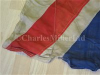Lot 98 - A UNION FLAG FLOWN BY H.M.S. DUKE OF YORK DURING HER FAMOUS ACTION AGAINST S.M.S. SCHARNHORST, 26TH DECEMBER, 1943