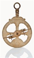 Lot 170 - A MARINER'S ASTROLABE<br/>heavily cast in brass...
