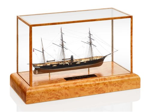 Lot 272 - A FINE 32FT:1IN. MINIATURE MODEL OF THE...