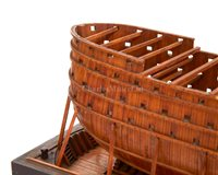 Lot 286 - A 15FT:1IN. SCALE FRAME MODEL FOR THE 120-GUN...