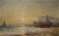 Lot 5 - JAMES FRANCIS DANBY (BRITISH, 1816-1875)<br/>Beach...