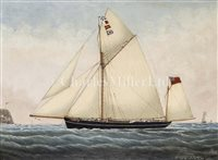 Lot 13 - C.S. TROUT (BRITISH, 19TH-CENTURY)<br/>The Yawl...