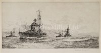 Lot 41 - A GROUP OF WARSHIP ETCHINGS INCLUDING WORKS BY...