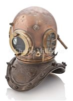Lot 144-A 12-BOLT COPPER AND BRASS DIVING HELMET BY...