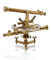 Lot 215 - A FRENCH DOUBLE THEODOLITE, CIRCA...