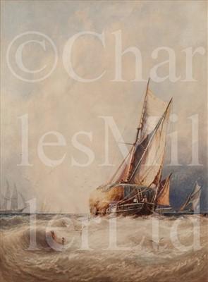 Lot 5 - GEORGE STAINTON (BRITISH 1838-1900)<br/>Hay barge...
